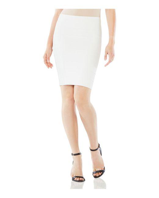 BCBGMAXAZRIA | White Alexa Knit Pencil Skirt | Lyst