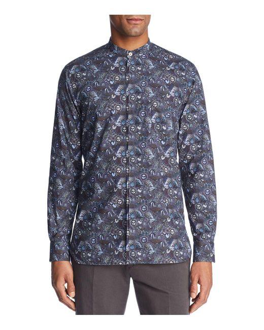 Paul Smith | Blue 1974 Print Slim Fit Dress Shirt for Men | Lyst