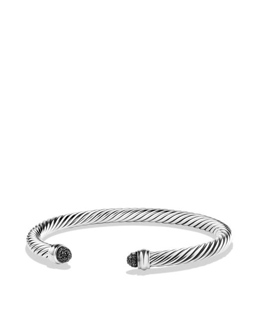 David Yurman | Cable Classics Bracelet With Black Diamonds | Lyst