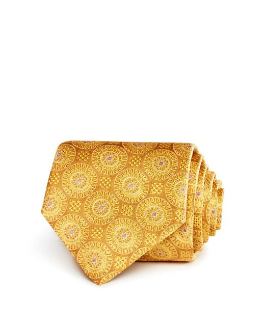 Canali   Metallic Large Medallion Classic Tie for Men   Lyst