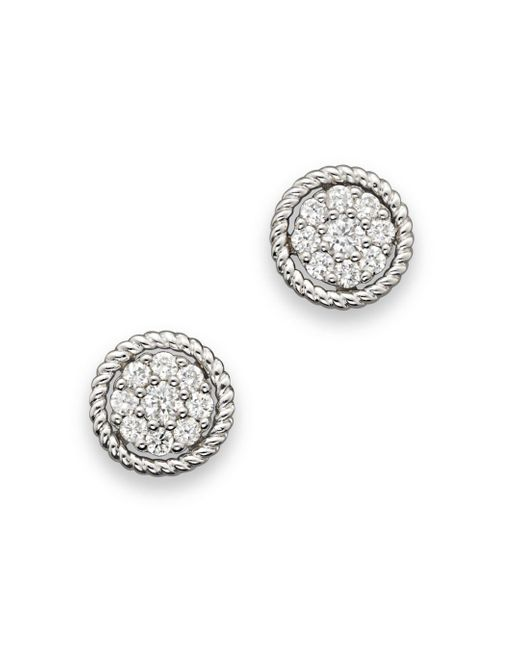 Bloomingdale's - Metallic Diamond Cluster Earrings Set In 14k White Gold - Lyst