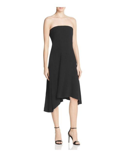 Theory | Black Trelle Strapless Dress | Lyst