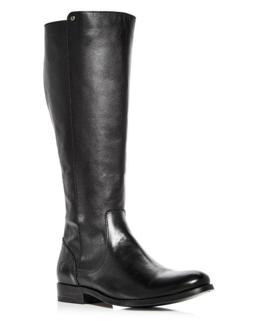 Frye - Black Melissa Stud Back-zip Boots - Lyst