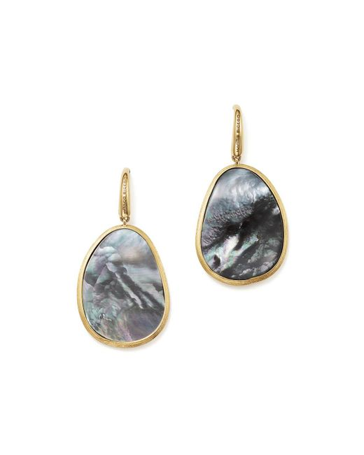 Marco Bicego | Metallic 18k Yellow Gold Lunaria Black Mother-of-pearl Drop Earrings | Lyst