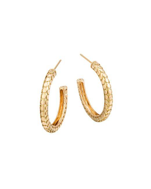 John Hardy - Metallic 18k Yellow Gold Dot Small Hoop Earrings - Lyst