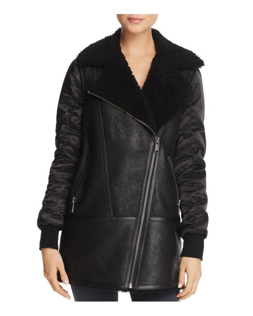 Andrew Marc | Black Tamryn Long Shearling Jacket | Lyst