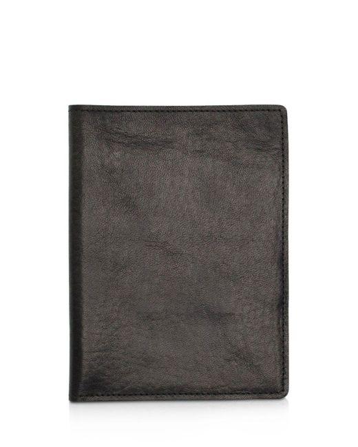 Shinola - Black Leather Passport Wallet - Lyst