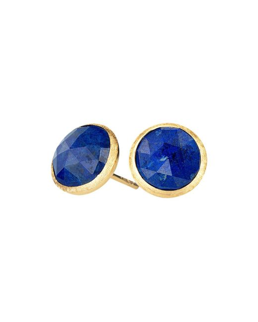 Marco Bicego | Blue 18k Yellow Gold Lapis Stud Earrings | Lyst
