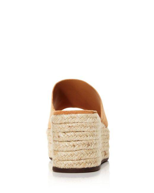 c29c265d058b2 Schutz - Natural Women's Thalia Suede Espadrille Platform Sandals - Lyst