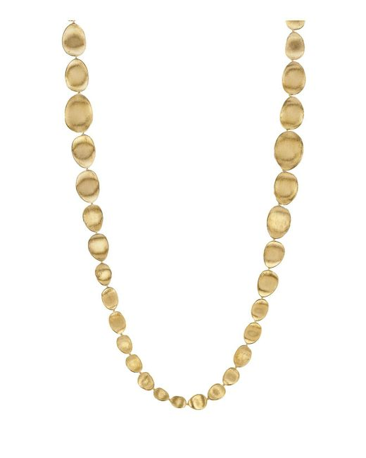 Marco Bicego | Metallic 18k Yellow Gold Lunaria Double Weave Necklace, 39.25"