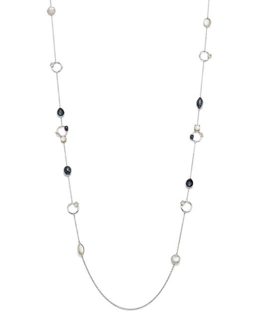 Ippolita - White Hematite Doublet And Clear Quartz Necklace In Piazza - Lyst