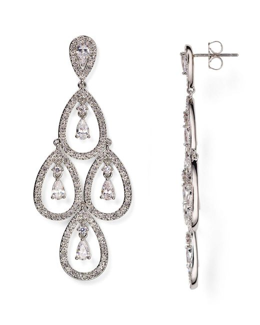 Nadri | Metallic Kite Chandelier Earrings | Lyst