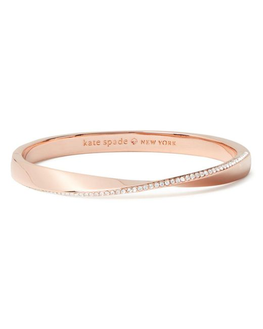 Kate Spade - Multicolor Pavé Hinged Bangle - Lyst