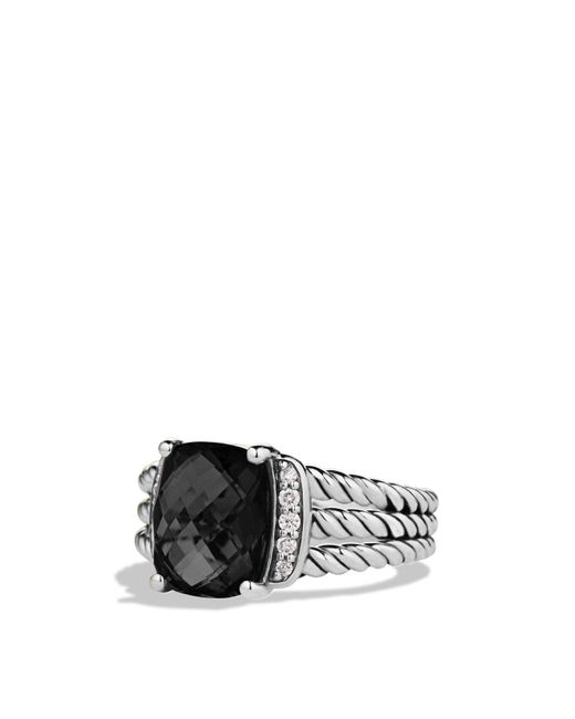 David Yurman | Petite Wheaton Ring With Black Onyx And Diamonds | Lyst