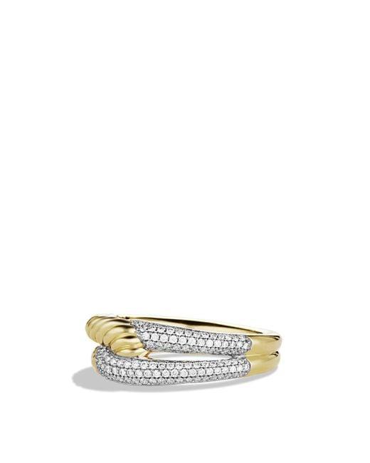 David Yurman   Yellow Labyrinth Single-loop Ring With Diamonds   Lyst