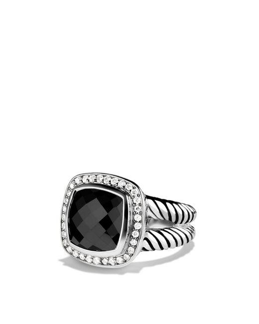 David Yurman | Metallic Albion Ring With Black Onyx & Diamonds | Lyst