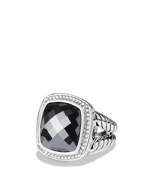 David Yurman | Metallic Albion Ring With Hematine & Diamonds | Lyst