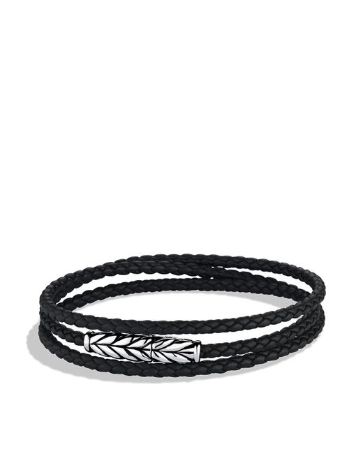 David Yurman   Metallic Chevron Triple-wrap Bracelet In Black for Men   Lyst