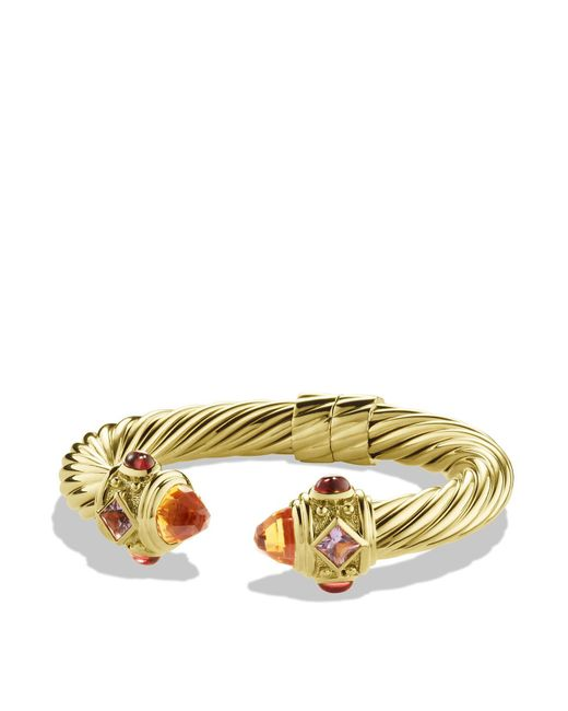 David Yurman | Metallic Renaissance Bracelet With Citrine And Iolite In Gold | Lyst