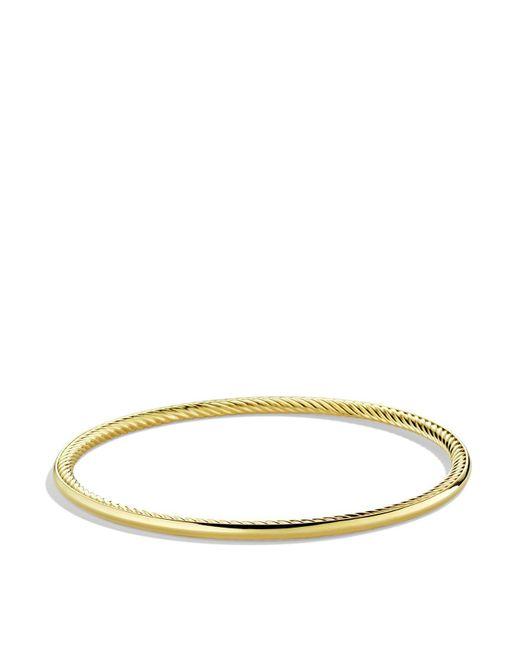 David Yurman | Yellow Cable Inside Bangle In Gold | Lyst