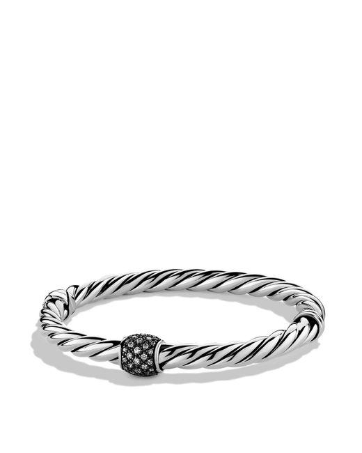 David Yurman | Metallic Cable Classics Narrow Bracelet With Diamonds | Lyst