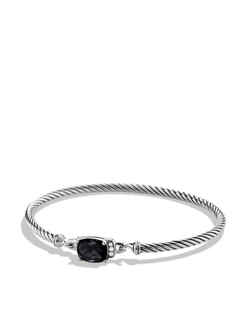 David Yurman | Petite Wheaton Bracelet With Black Onyx And Diamonds | Lyst