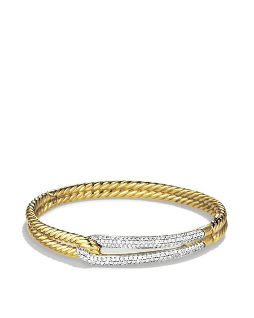 David Yurman | Yellow Labyrinth Single-loop Bracelet With Diamonds In Gold | Lyst