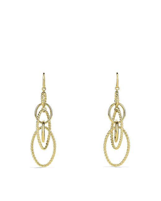 David Yurman | Yellow Mobile Large Link Earrings In Gold | Lyst