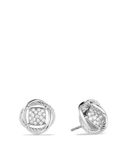 David Yurman | Metallic Infinity Earrings With Diamonds | Lyst