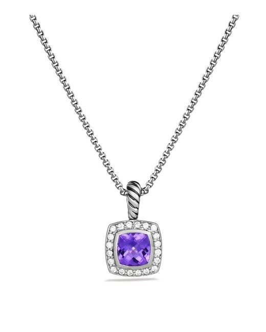 David Yurman | Metallic Petite Albion Pendant With Amethyst And Diamonds On Chain | Lyst