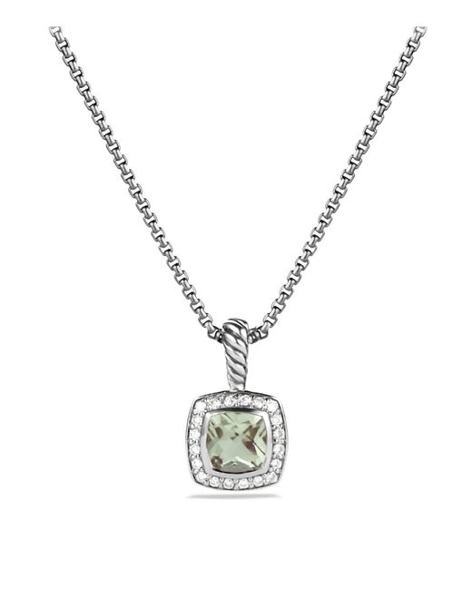David Yurman   Metallic Petite Albion Pendant With Prasiolite And Diamonds On Chain   Lyst
