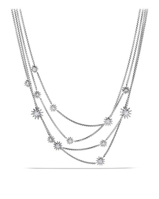 David Yurman | Metallic Starburst Chain Necklace With Diamonds | Lyst
