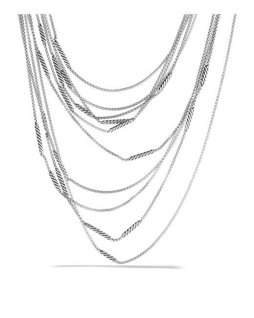 David Yurman | Metallic Willow Five-row Chain Necklace | Lyst
