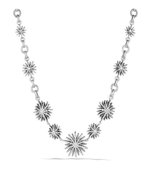David Yurman   Metallic Starburst Link Necklace With Diamonds   Lyst