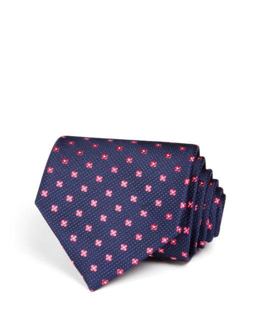 Bloomingdale's - Blue Small Florette Wide Tie for Men - Lyst