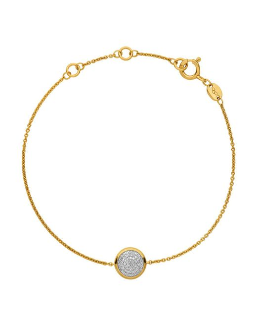 Links of London | Yellow Diamond Essentials Pavé Round Bracelet | Lyst