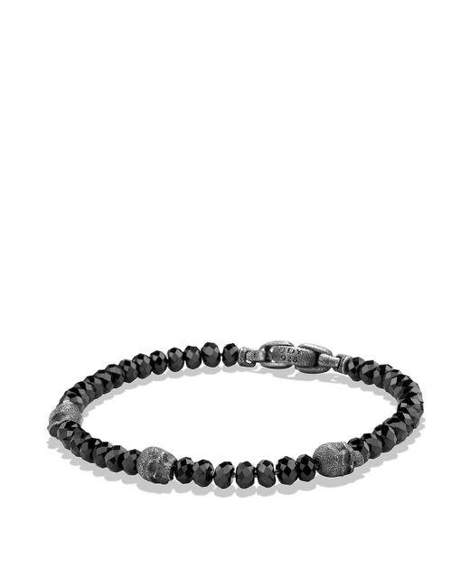 David Yurman - Spiritual Beads Skull Station Bracelet In Black Spinel for Men - Lyst