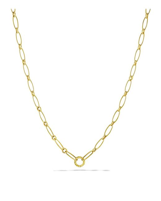 David Yurman | Yellow Oval Link Necklace | Lyst