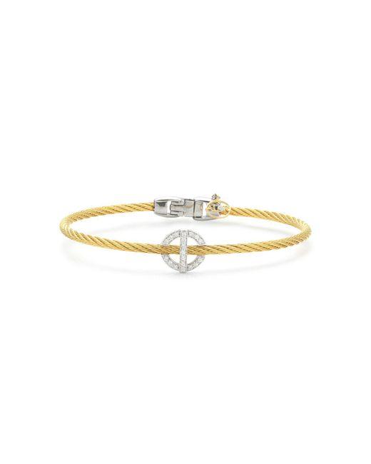 Alor | Metallic Diamond Yellow Cable Bangle | Lyst