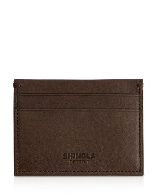 Shinola - Brown Leather Card Case - Lyst