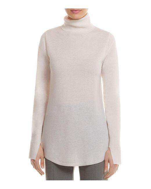 Halston Heritage | Multicolor Wool-cashmere Cutout Tunic Sweater | Lyst