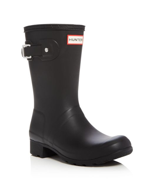 Hunter | Black Women's Original Tour Packable Short Rain Boots | Lyst