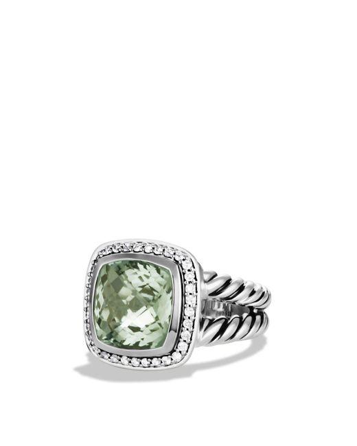 David Yurman | Metallic Albion Ring With Prasiolite And Diamonds | Lyst