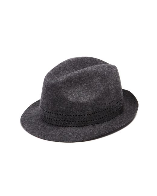 Paul Smith | Gray Hole Punch Felt Hat for Men | Lyst
