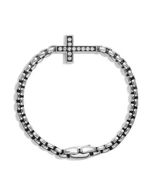 David Yurman | Metallic Pavé Cross Bracelet With Diamonds for Men | Lyst
