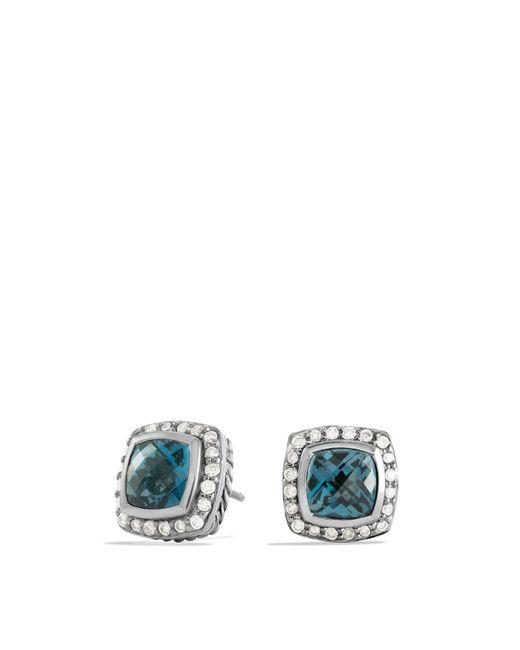 David Yurman | Petite Albion Earrings With Hampton Blue Topaz & Diamonds | Lyst