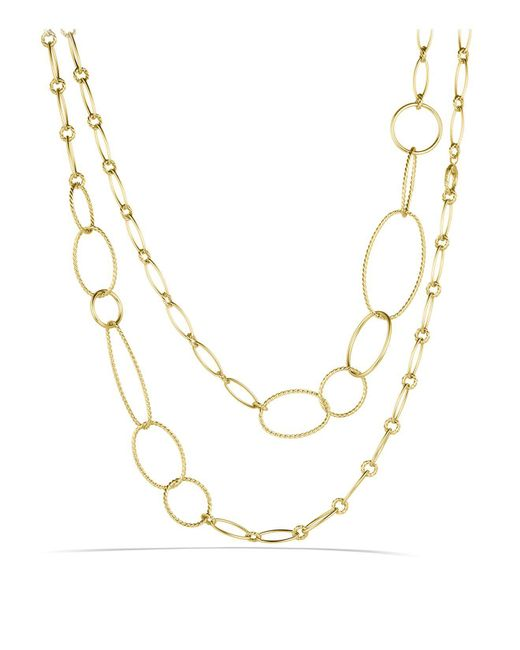 David Yurman | Yellow Mobile Link Necklace In Gold | Lyst