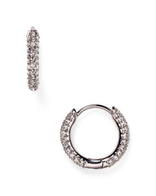 Nadri - Metallic Huggie Hoop Earrings - Lyst