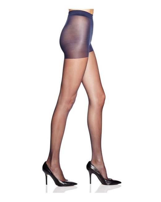 CALVIN KLEIN 205W39NYC - Blue Matte Ultra Sheer Control Top Tights - Lyst