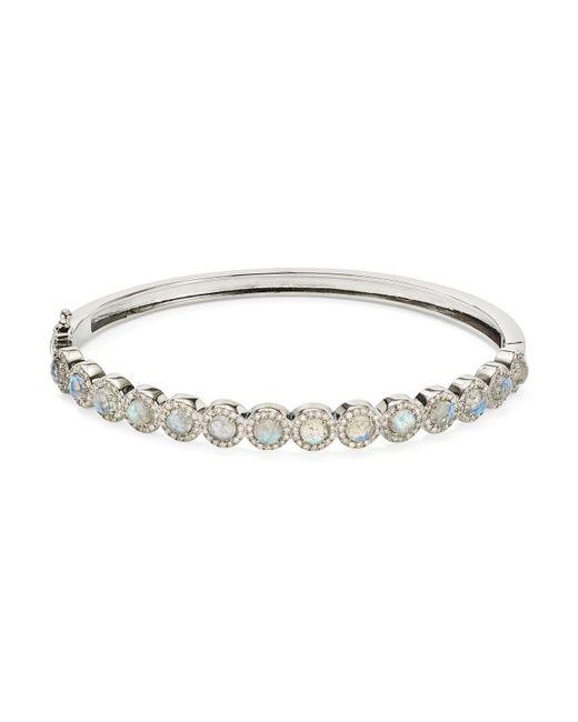 Ela Rae - Metallic Pave Diamond & Labradorite-faceted Cabochon Bracelet - Lyst